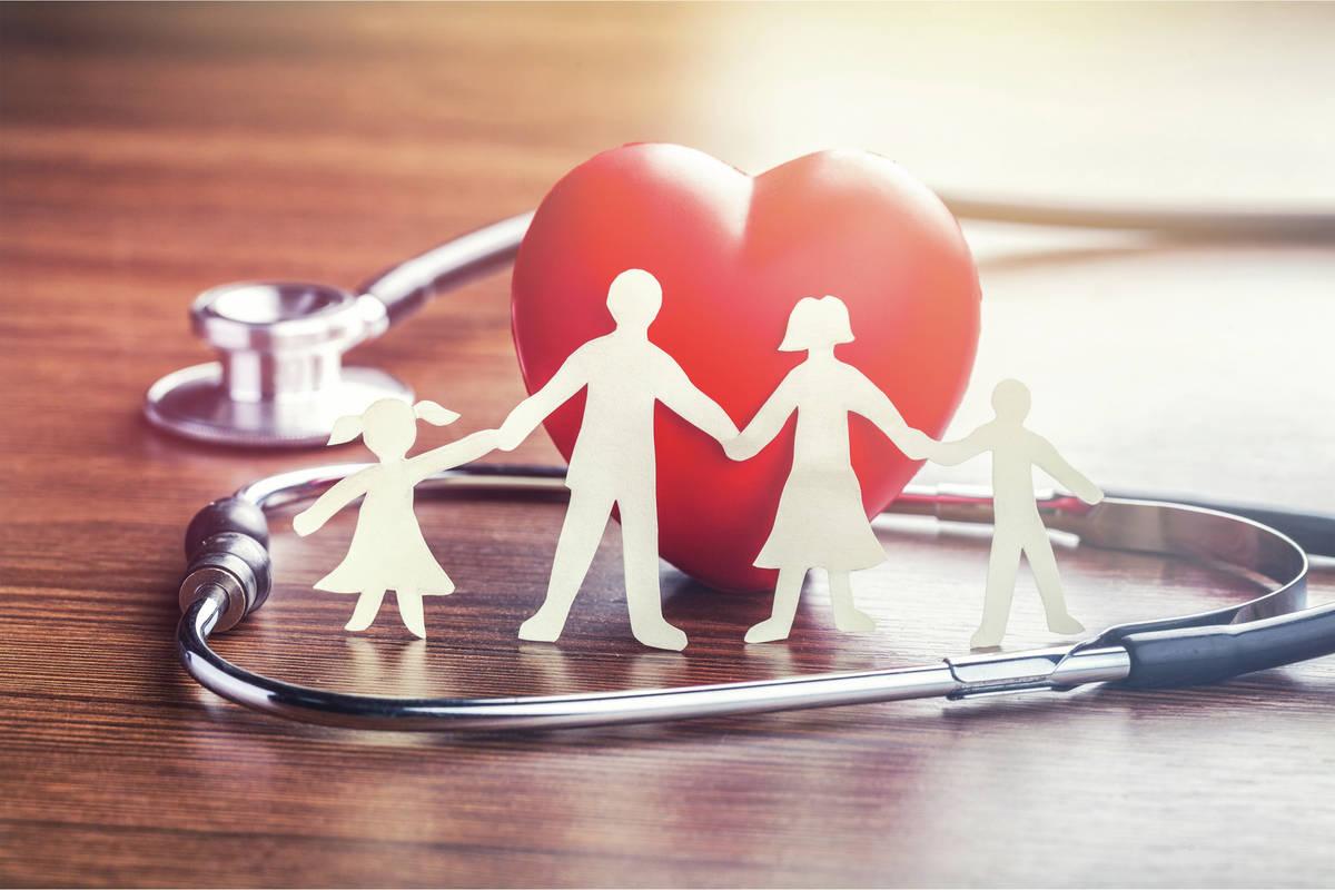 Health insurance aid cardiogram care chain check