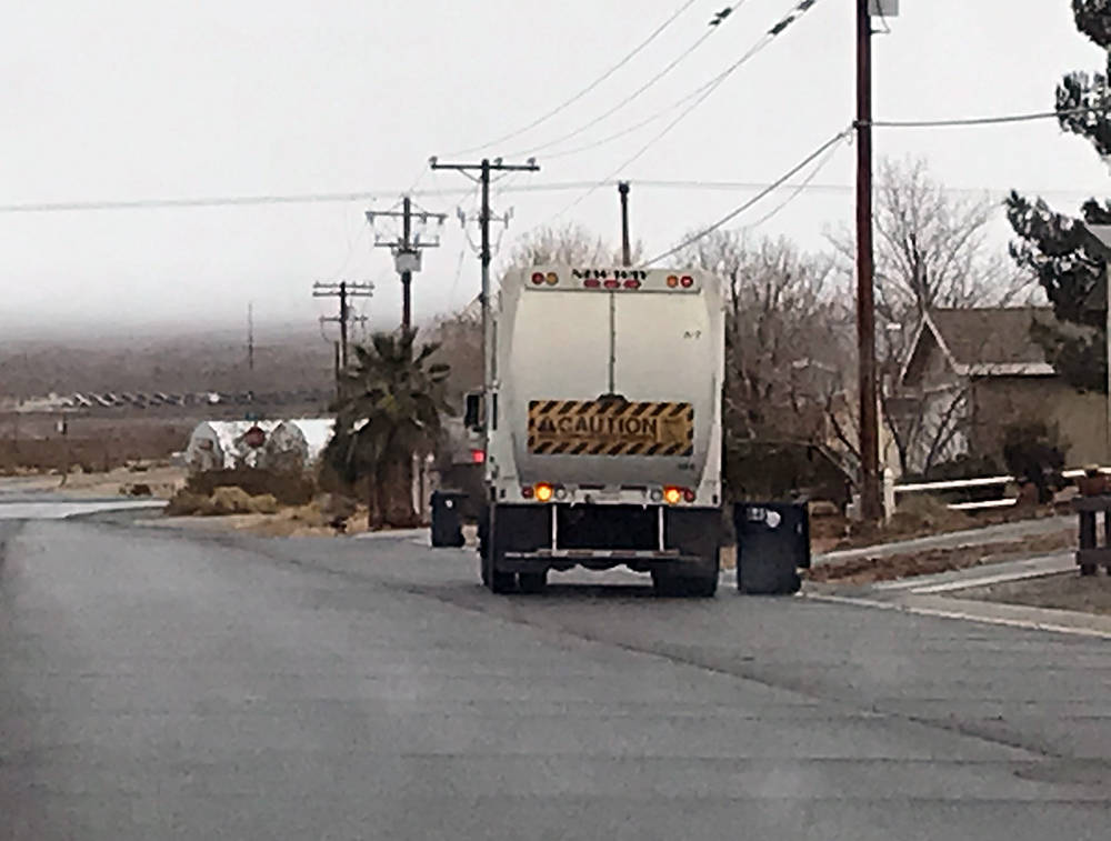 Robin Hebrock/Pahrump Valley Times The garbage collection rate increase approved by the Nye Cou ...