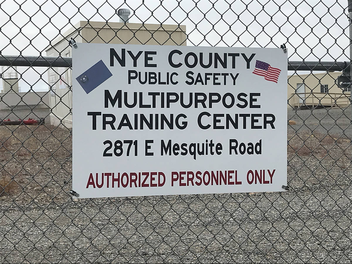 Robin Hebrock/Pahrump Valley Times The 41-acre parcel at 2871 E. Mesquite Avenue currently hous ...