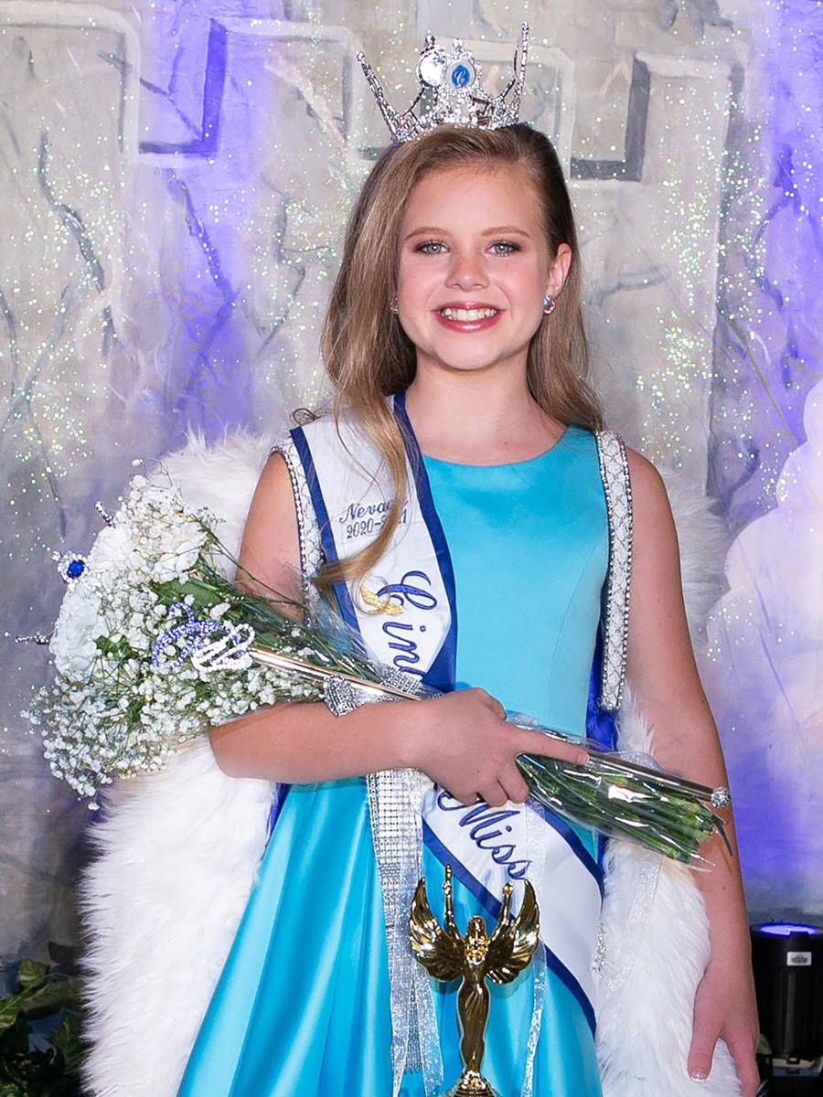 Special to the Pahrump Valley Times Pahrump youth Isabella Simpson was crowned as Nevada State ...