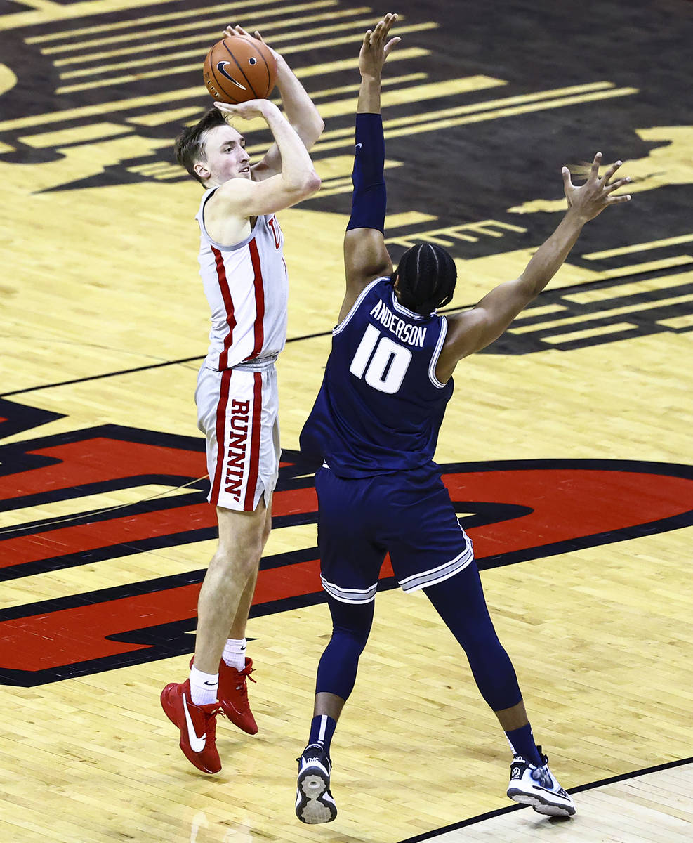 Chase Stevens/Special to the Pahrump Valley Times UNLV forward Moses Wood, shown Jan. 27 agains ...