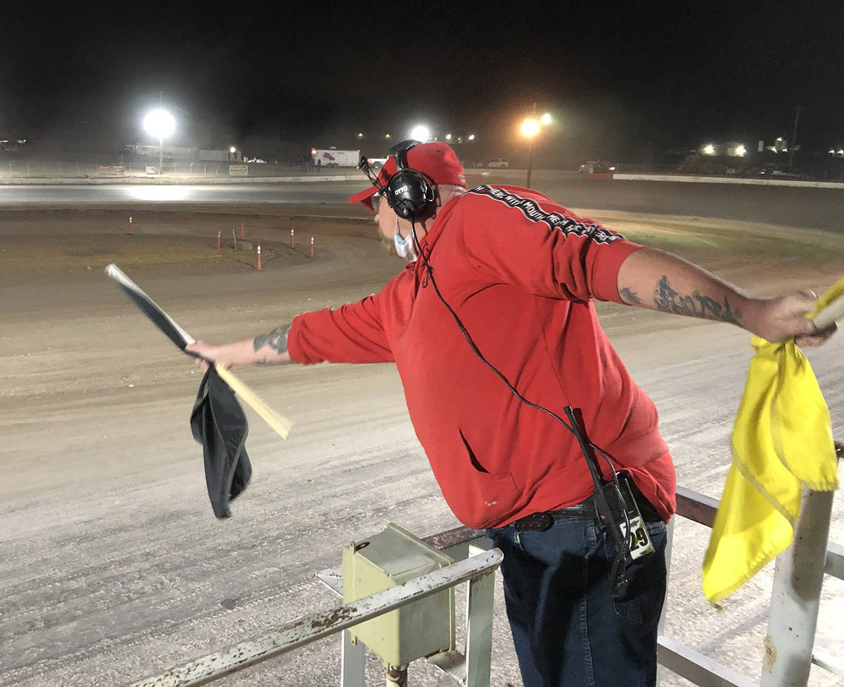 Tom Rysinski/Pahrump Valley Times When track officials decide a driver merits a warning for som ...