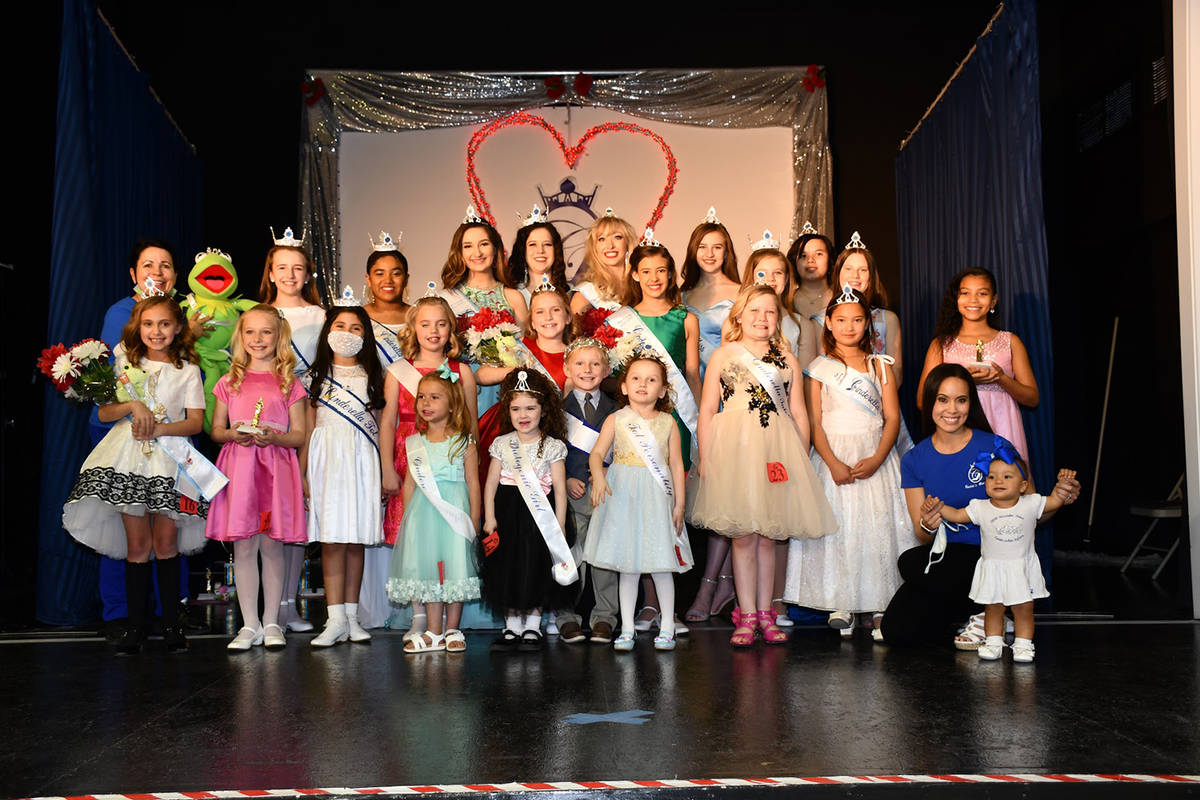 Special to the Pahrump Valley Times The contestants in the 2021 Nye County Cinderella Pageant p ...