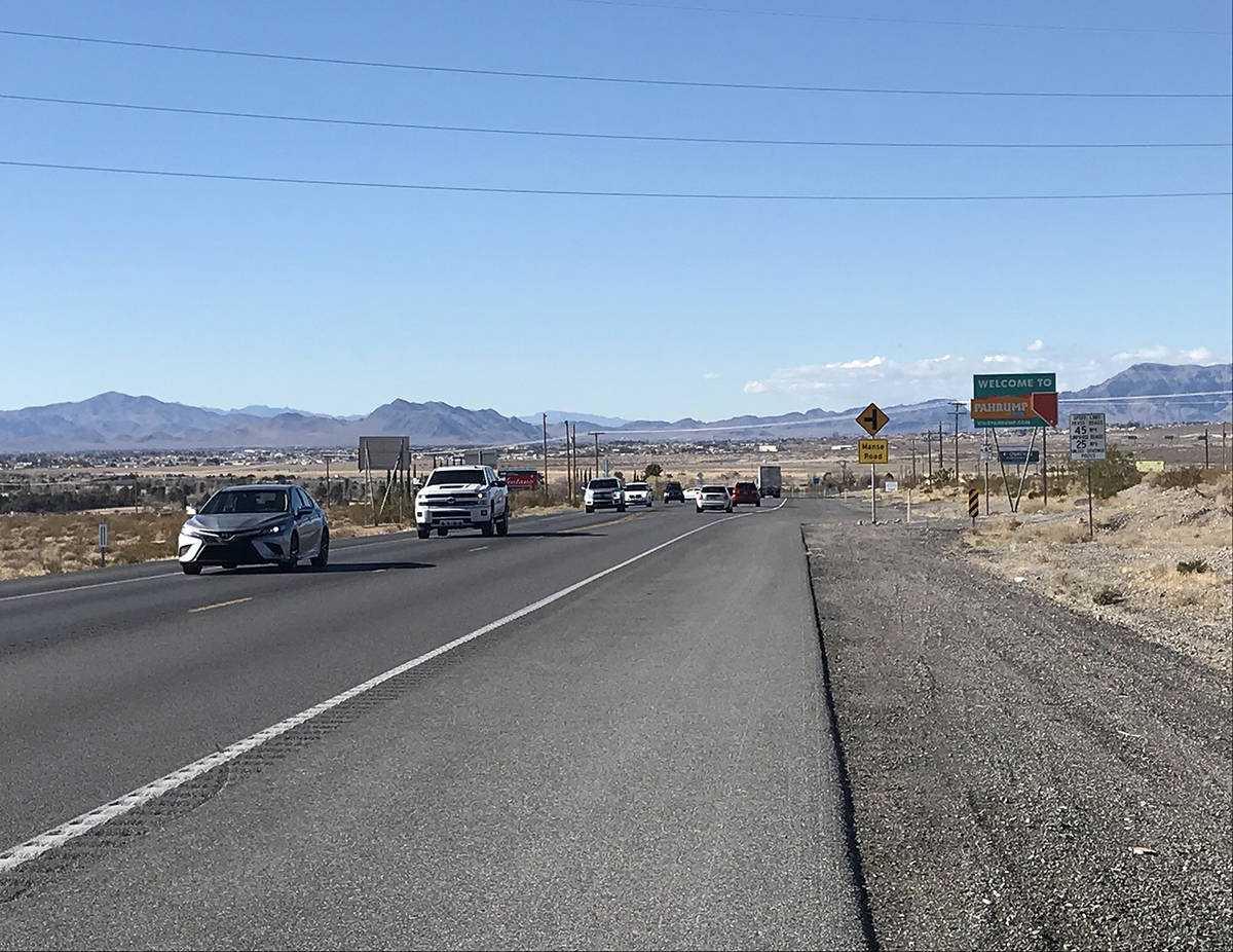 Robin Hebrock/Pahrump Valley Times Widening Highway 160 to four lanes between Mabes Street and ...