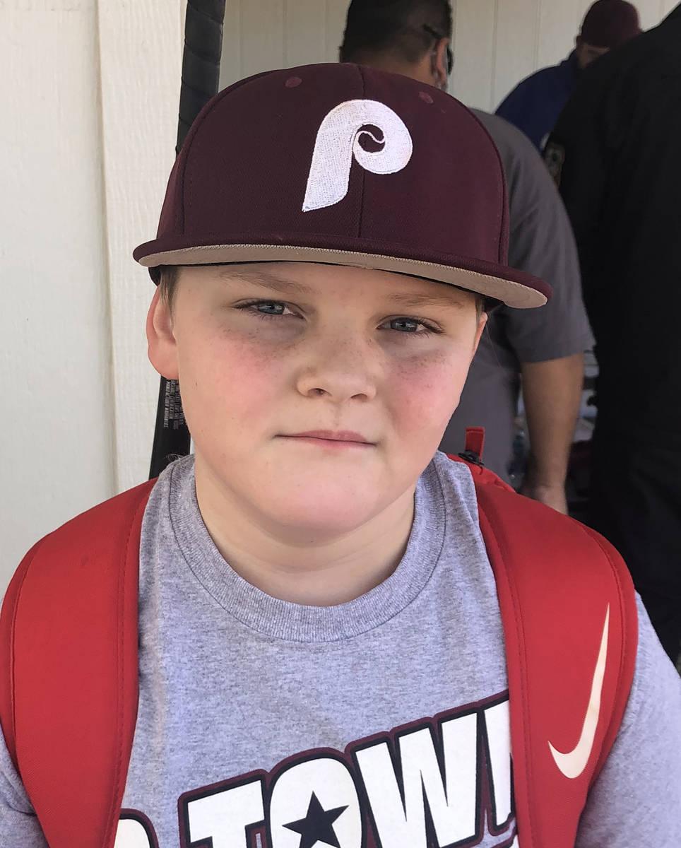 Tom Rysinski/Pahrump Valley Times Hunter Jones, 11, is one of several Pahrump Valley Little Lea ...