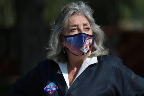 U.S. Rep. Dina Titus, D-Nev., in a Wednesday, Oct. 21, 2020, file photo. (Erik Verduzco / Las V ...