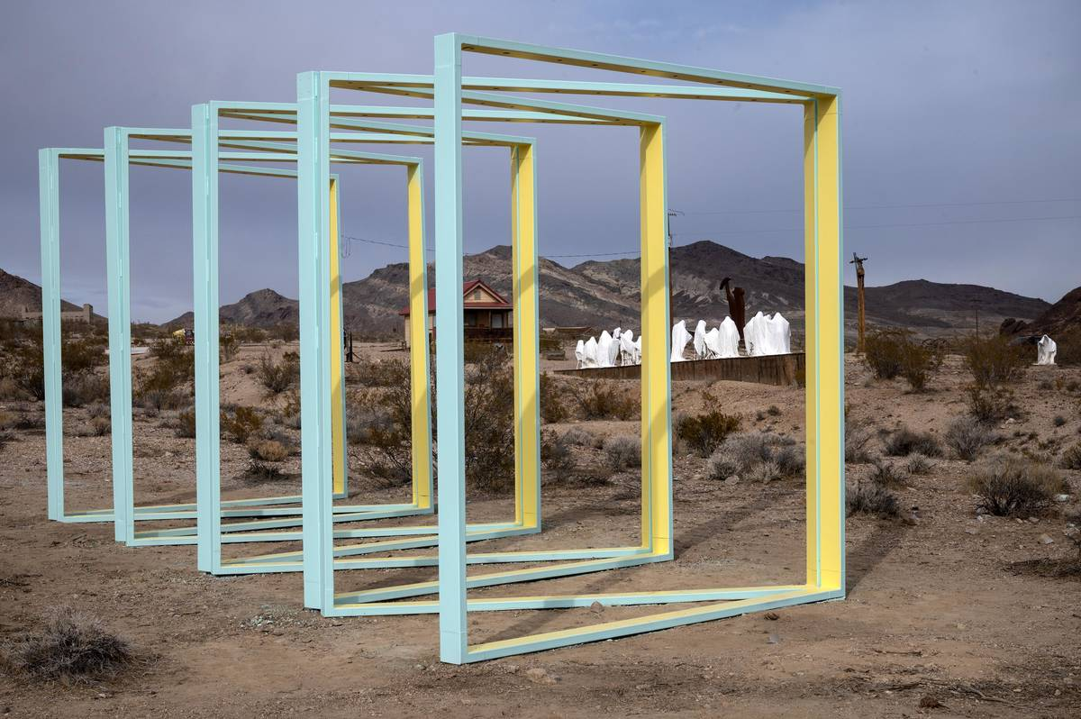 Richard Stephens/Special to the Pahrump Valley Times A new steel sculpture is coming to life a ...