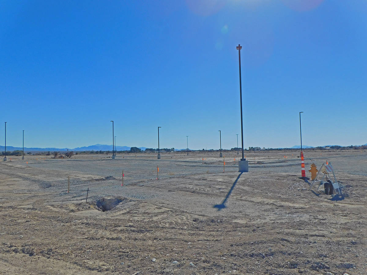 Robin Hebrock/Pahrump Valley Times Development of Kellogg Park continues to move forward and th ...