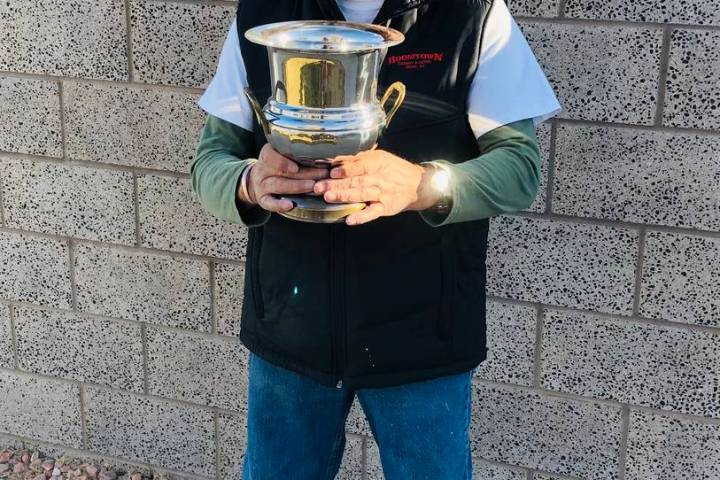 Lathan Dilger/Special to the Pahrump Valley Times Louie Escalante of Reno poses with his champi ...