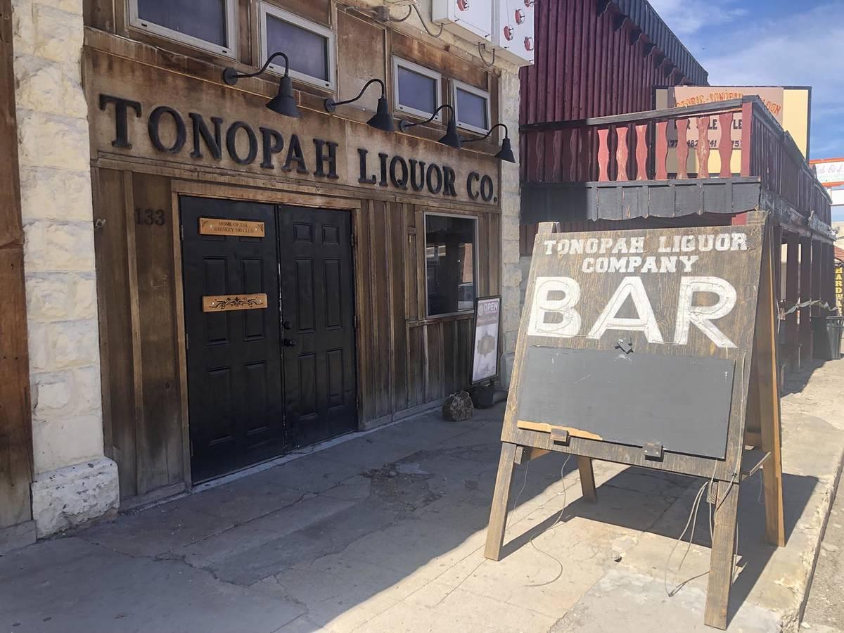 Tom Rysinski/Times-Bonanza & Goldfield News Tonopah Liquor Company welcomes customers walking o ...