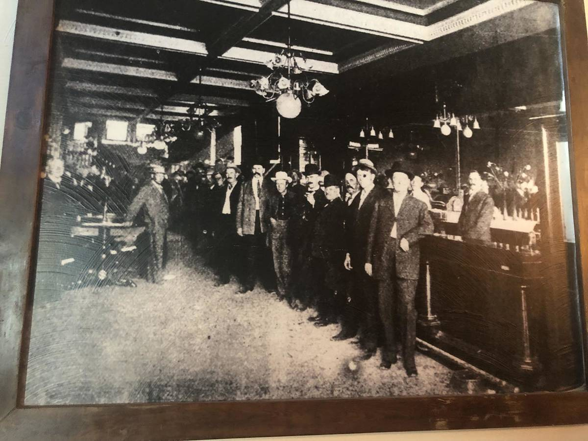 Tom Rysinski/Times-Bonanza & Goldfield News A 1908 photo of Tonopah Liquor Company, taken two y ...