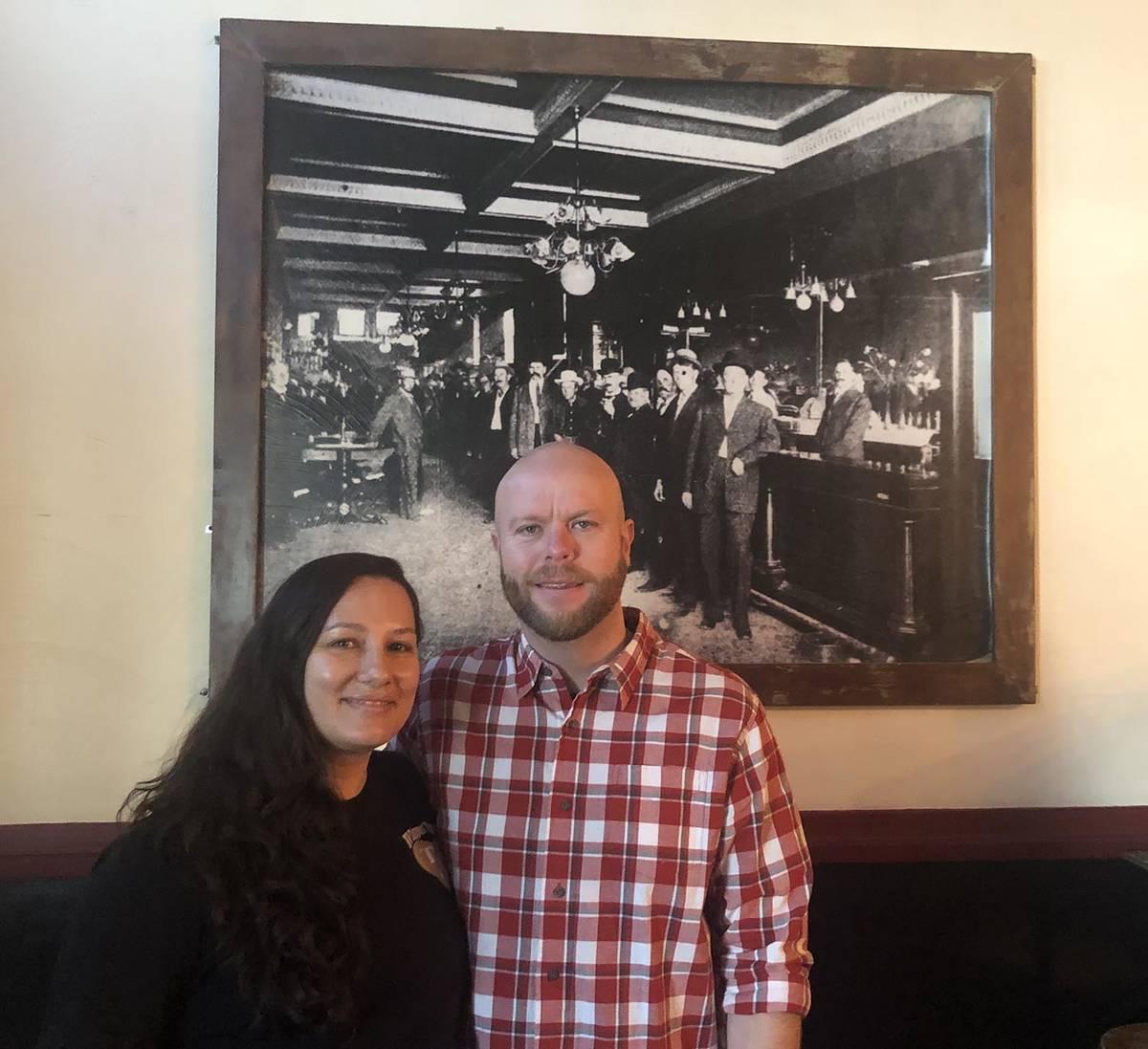 Tom Rysinski/Times-Bonanza & Goldfield News Tonopah Liquor Company owners Tiffany and Marc Grig ...