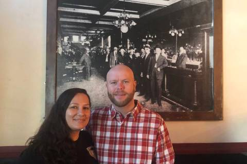 Tom Rysinski/Times-Bonanza & Goldfield News Tonopah Liquor Company owners Tiffany and Marc Grig ...