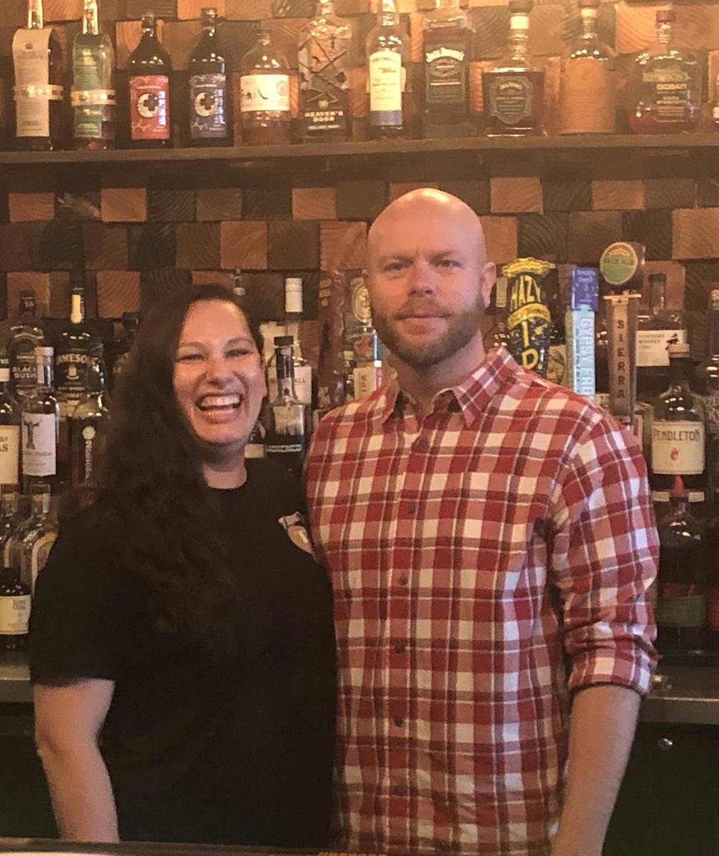 Tom Rysinski/Times-Bonanza & Goldfield News Tiffany and Marc Grigory behind the bar at Tonopah ...