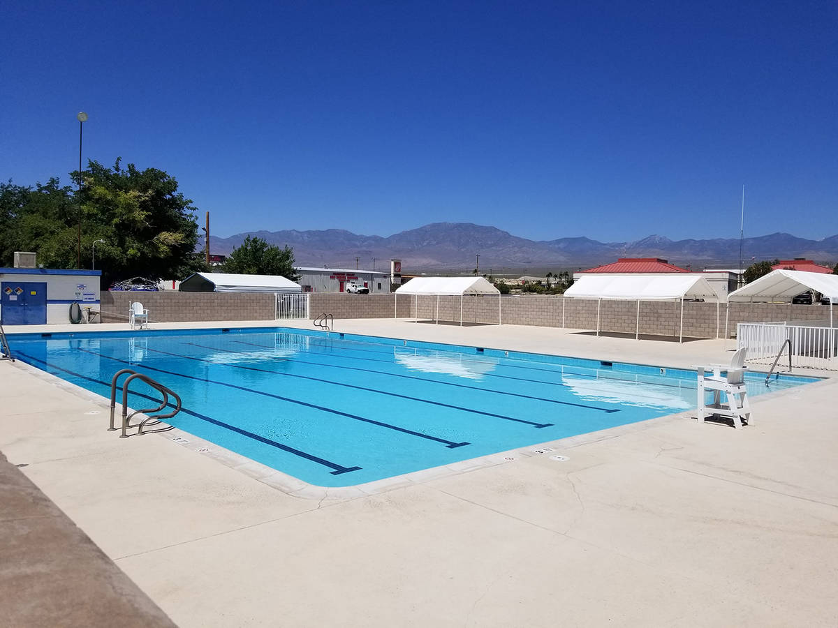 David Jacobs/Pahrump Valley Times This July 4 photo shows the unoccupied Pahrump community swim ...
