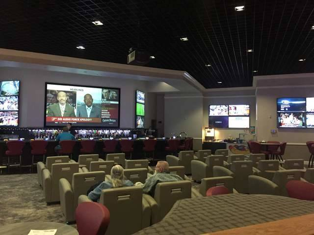 Special to the Pahrump Valley Times Guests can watch sports events on a 165-inch high definiti ...
