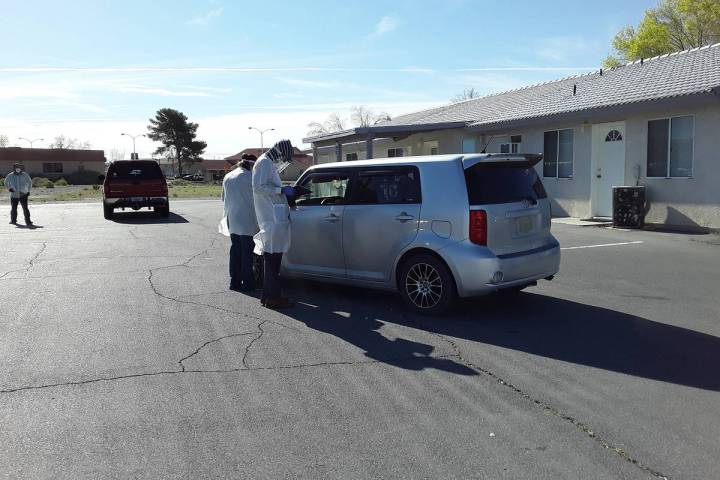 Selwyn Harris/Pahrump Valley Times Taken the morning of Tuesday, March 31, 2020, this photo sho ...