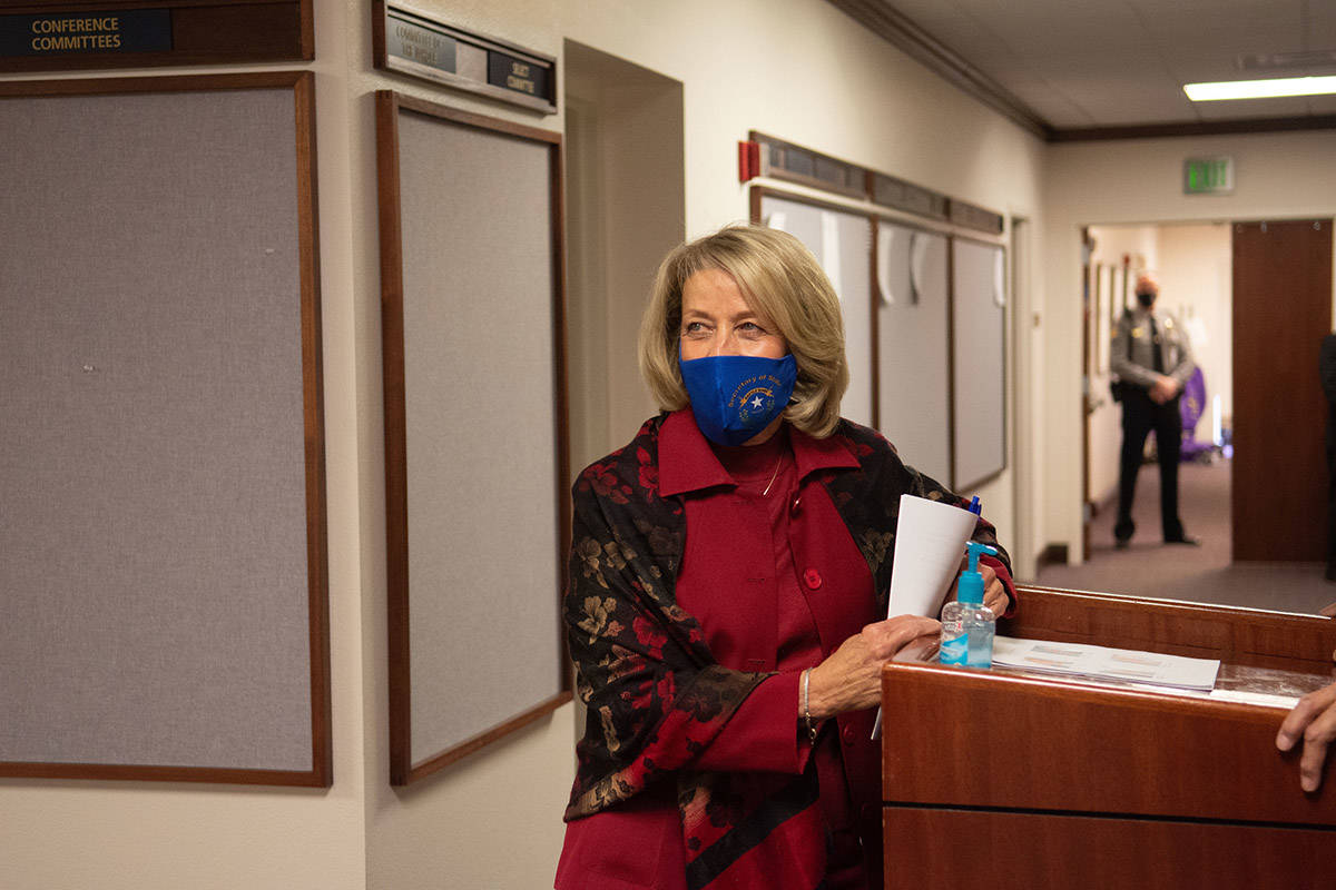 Nevada Secretary of State Barbara Cegavske on the first day of the 81st session of the Nevada L ...