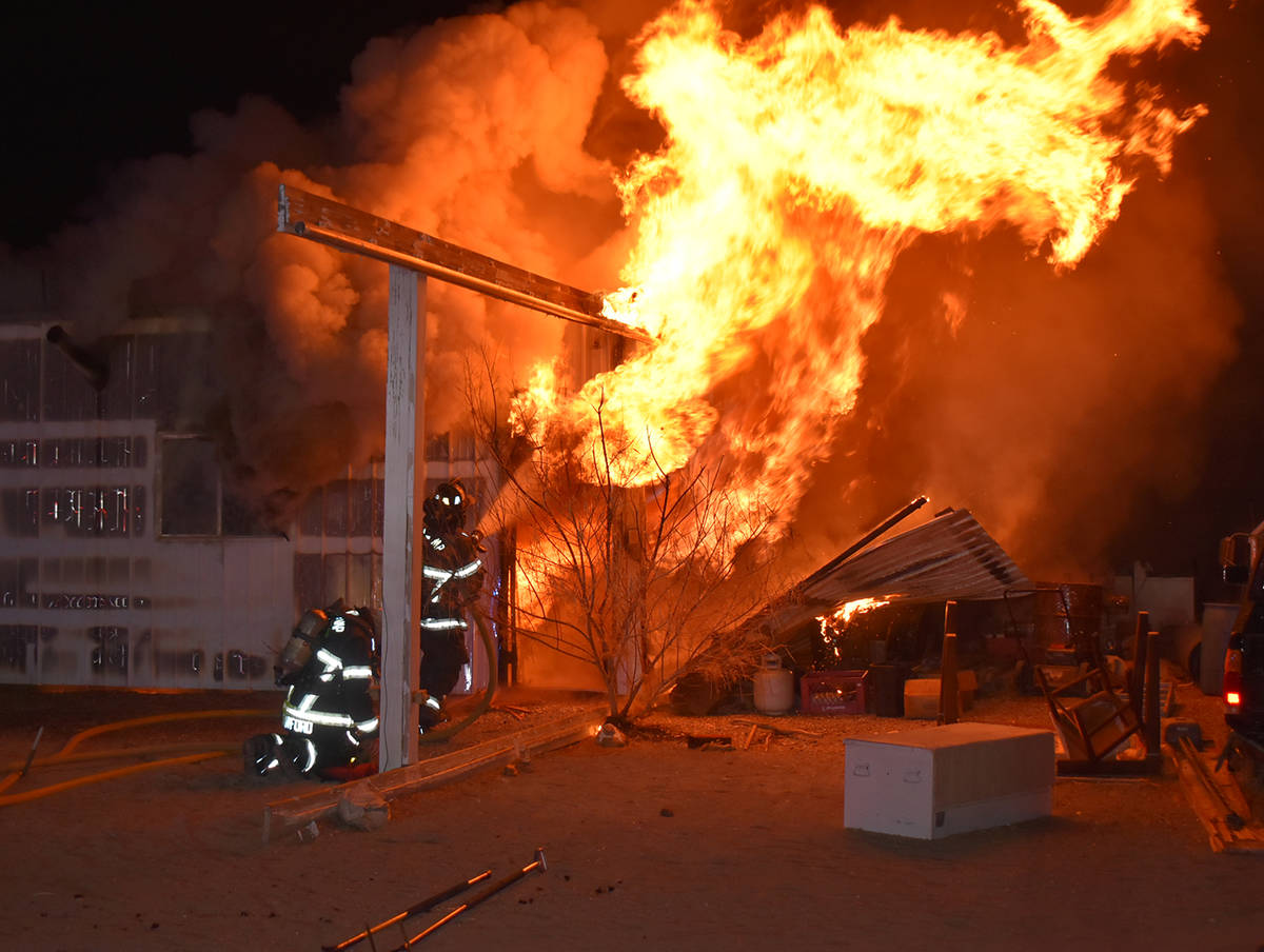 Special to the Pahrump Valley Times No injuries were reported following a structure fire on Sou ...
