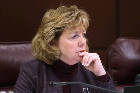 K.M. Cannon/Las Vegas Review-Journal Sen. Marilyn Dondero Loop, D-Las Vegas, during a Judiciary ...