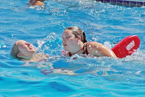 Horace Langford Jr./Pahrump Valley Times This file photo shows Pahrump pool lifeguard applican ...