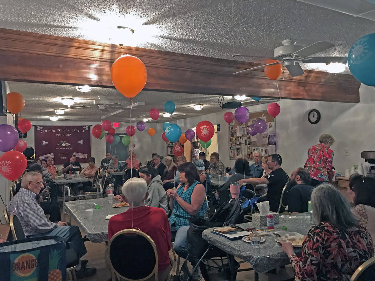 Robin Hebrock/Pahrump Valley Times This file photo shows GriefShare members attending a Celebra ...