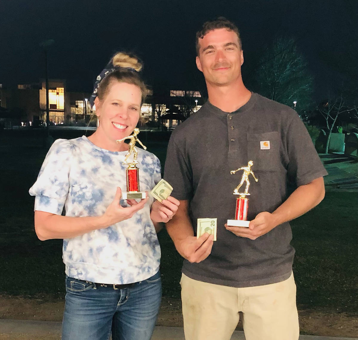 Lathan Dilger/Special to the Pahrump Valley Times Sheri Dilger and Jefferson Counts with their ...