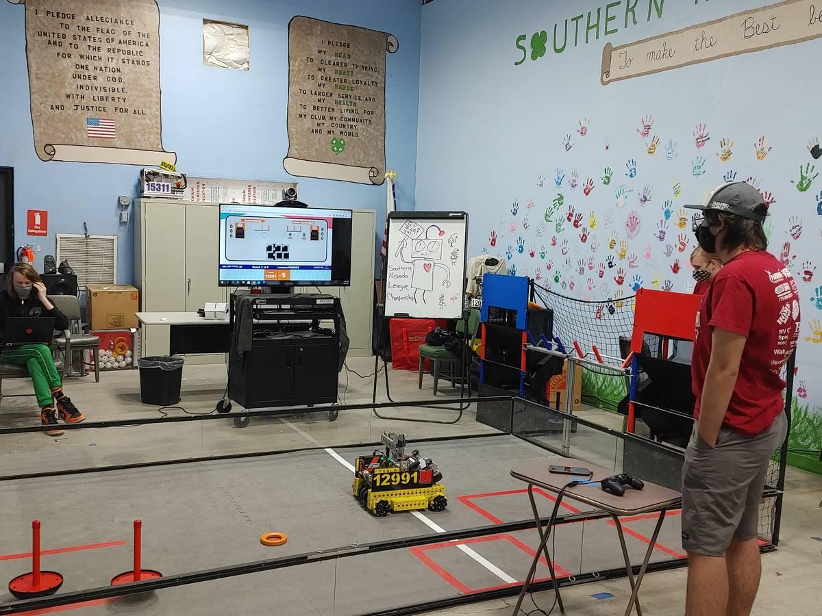 Landon Ingersoll/Special to the Pahrump Valley Times Pahrump robotics team Awkward Silence tak ...