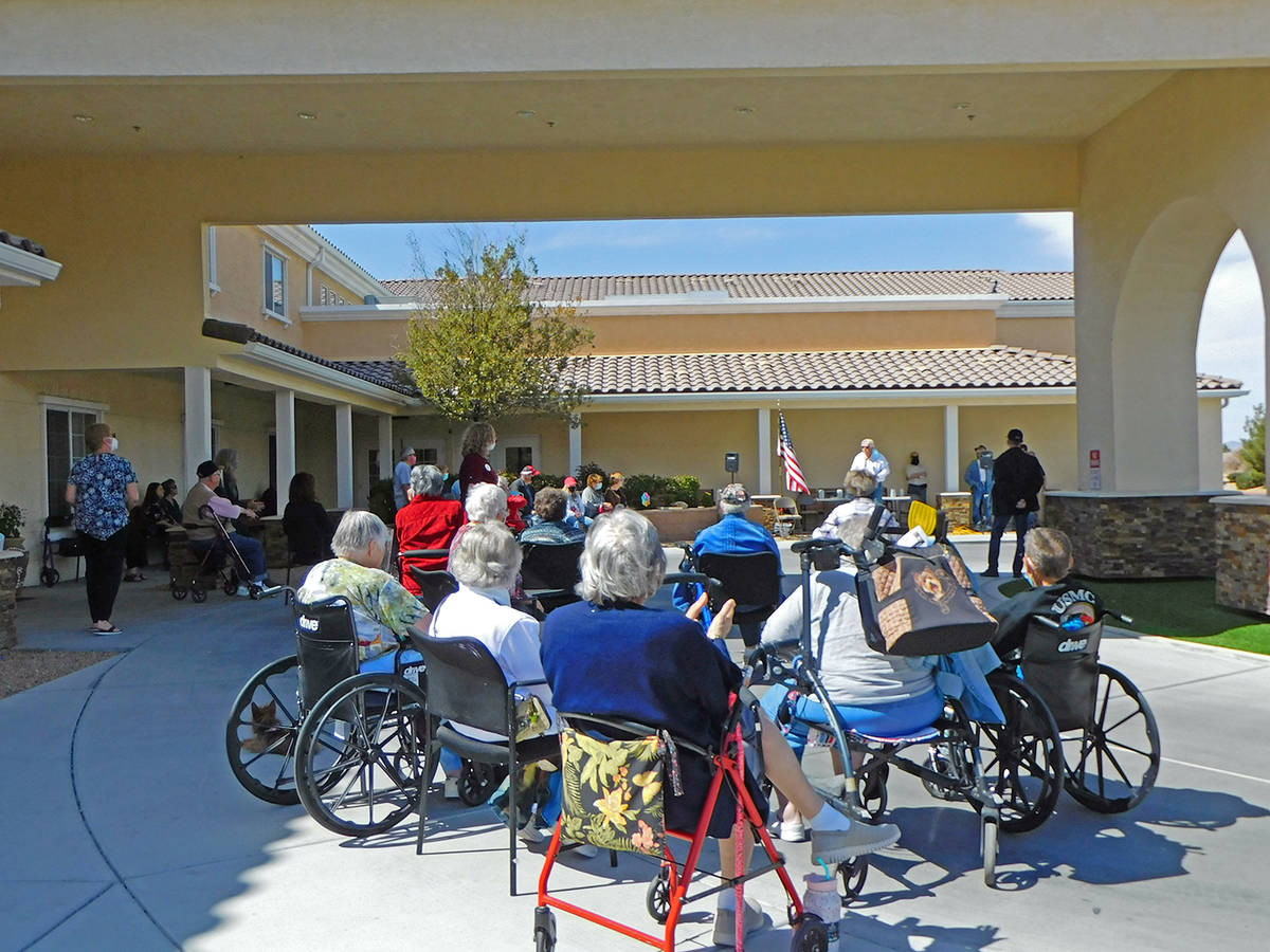 Robin Hebrock/Pahrump Valley Times Residents and staff at Inspirations Senior Living were joine ...