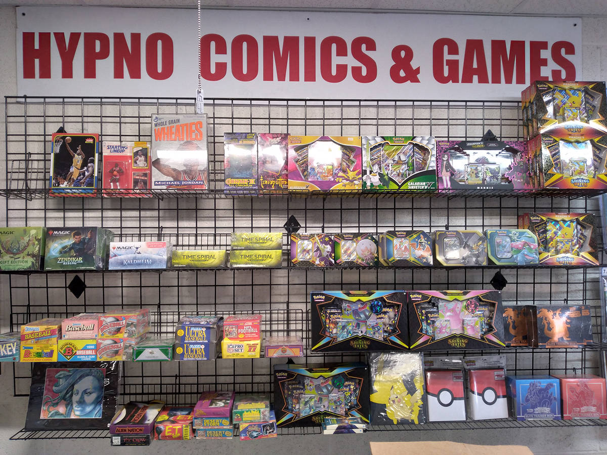 Selwyn Harris/Pahrump Valley Times Comic books aside, Hypno Comics also stocks classic collecti ...