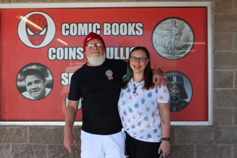 Alyssa Greenway/Special to the Pahrump Valley Times George Chase, owner of Hypno Comics stands ...
