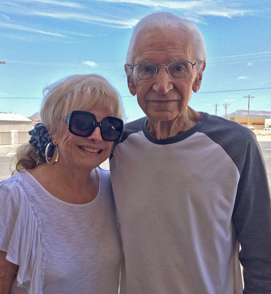 Robin Hebrock/Pahrump Valley Times Joetta Walsh is pictured with Pete Giordano, who brought the ...