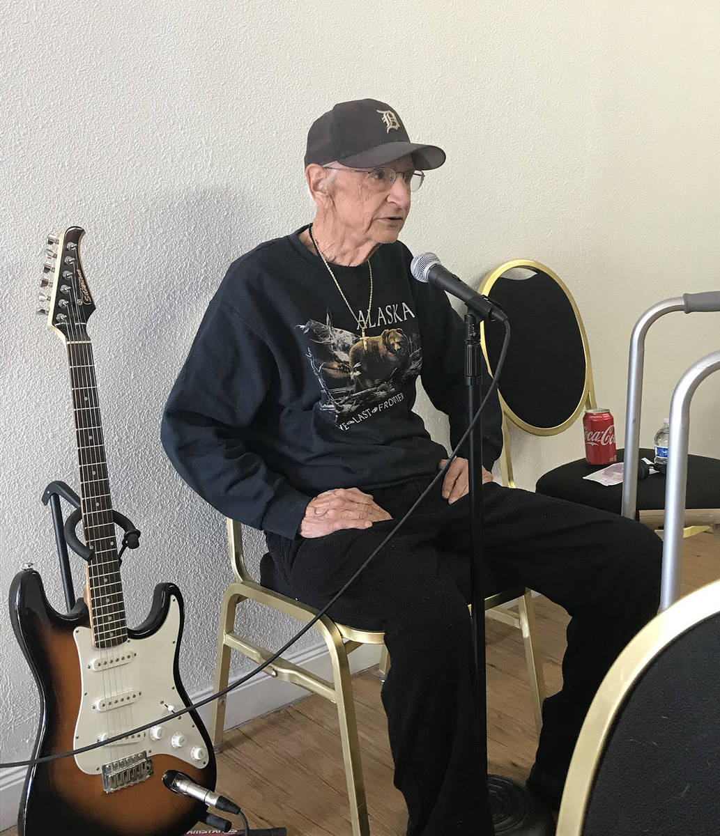 Robin Hebrock/Pahrump Valley Times The memory of Pahrump GriefShare founder Pete Giordano was h ...