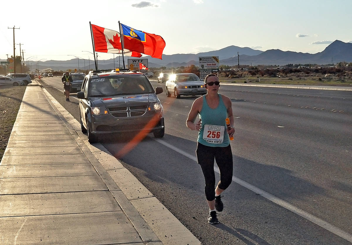 Horace Langford Jr./Pahrump Valley Times This file photo shows a runner participating in the 20 ...
