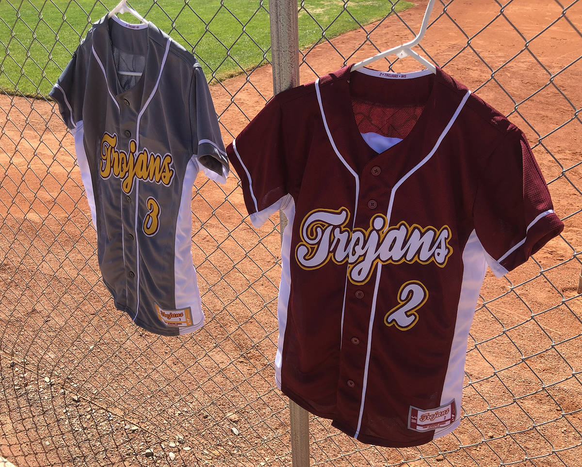 Tom Rysinski/Pahrump Valley Times New uniforms for the Pahrump Valley High School softball team ...