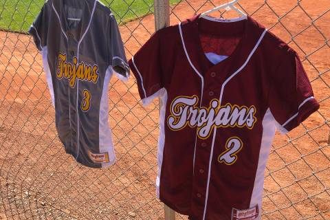 Tom Rysinski/Pahrump Valley Times New uniforms for the Pahrump Valley High School softball team ...