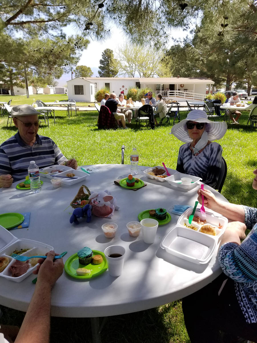 Photo courtesy of Nancy Fowler Pahrump Senior Center officials plan to have additional outdoor ...