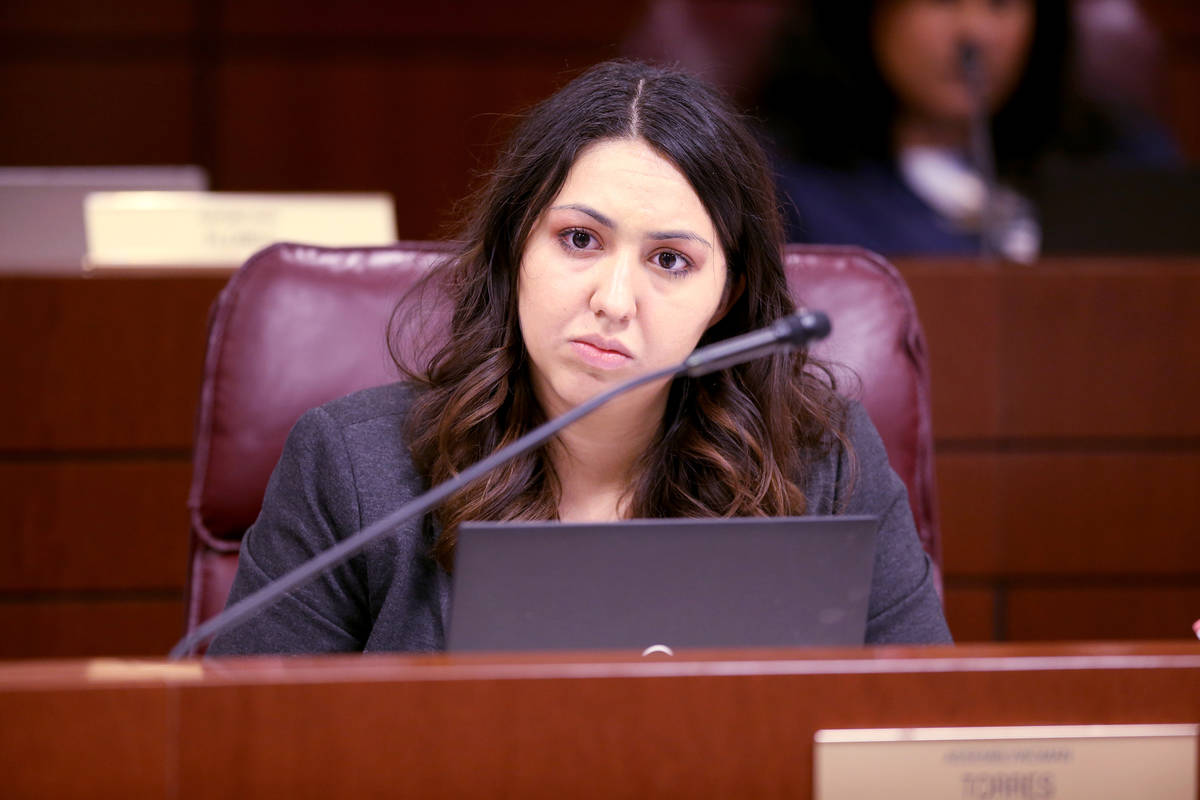 FILE--Assemblywoman Selena Torres, D-Las Vegas, listens to testimony during an Education Commit ...