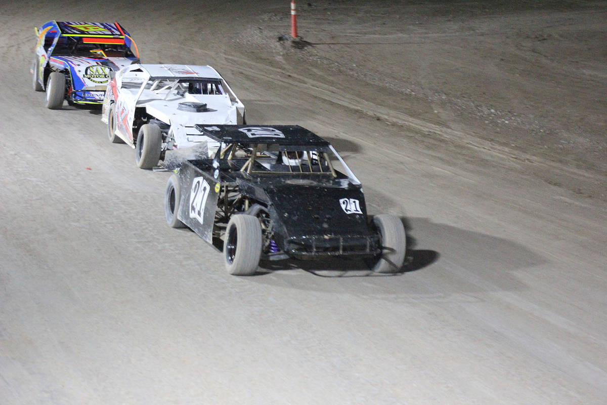 Digital Storm Photography/Special to the Pahrump Valley Times Jeff Murphy in Car No. 21 leads p ...