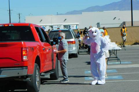 Robin Hebrock/Pahrump Valley Times The Community Easter Curbside Event took place Saturday, Apr ...