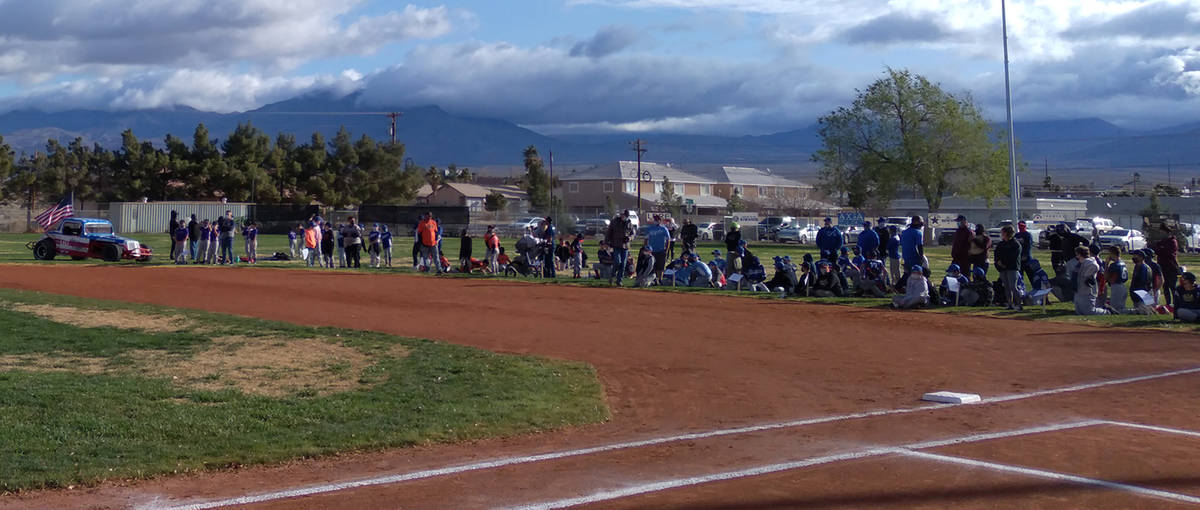 Nick Castro, Pahrump Valley Little League/Special to the Pahrump Valley Times Players gather on ...