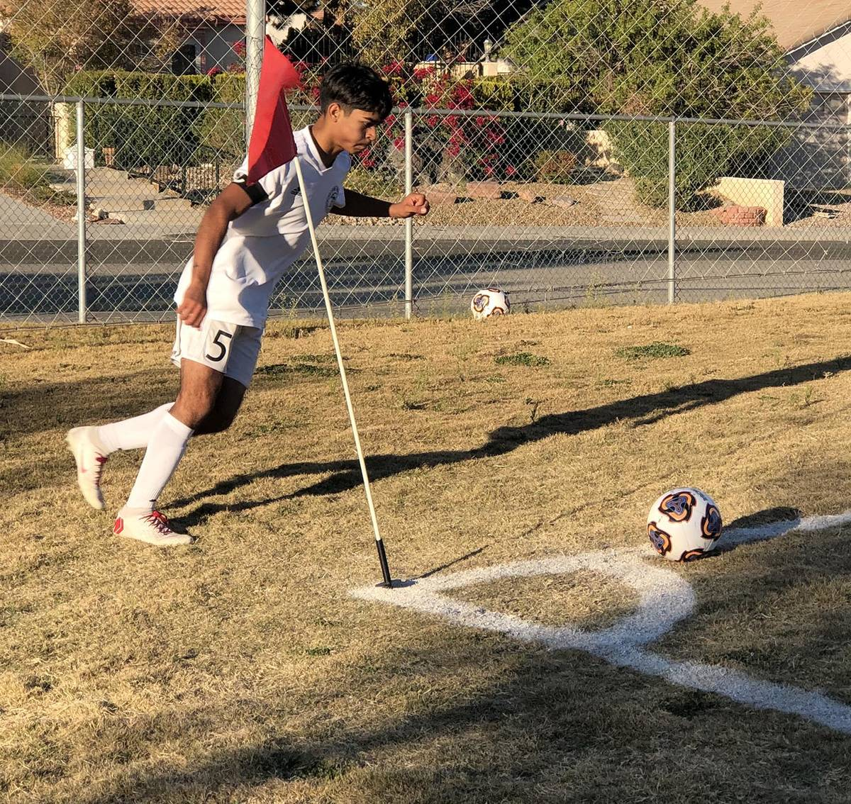 File photo Christopher Vega, shown taking a corner kick during a game last season against Del S ...