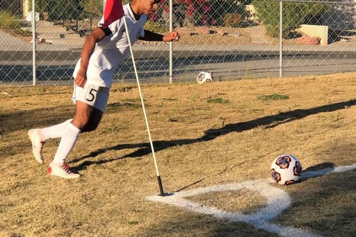 File photo Christopher Vega, shown taking a corner kick during a game last season against Del S ...