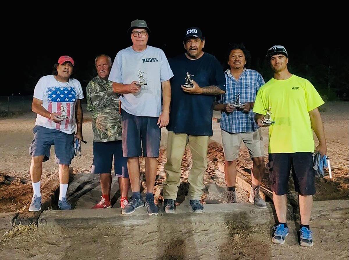 Jennifer Lindsey/Special to the Pahrump Valley Times From left, the second-place team of DJ Zul ...