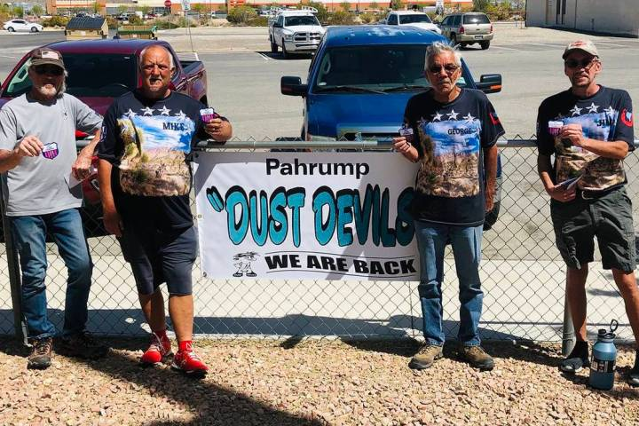 Lathan Dilger/Special to the Pahrump Valley Times From left, Class D winner Jim Bergstrand, Cla ...