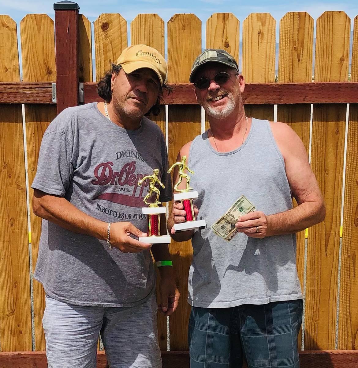 Lathan Dilger/Special to the Pahrump Valley Times DJ Zuloaga, left, and Mark Kaczmarek won the ...