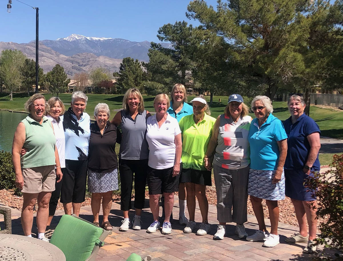Special to the Pahrump Valley Times Participants in the 2021 Mountain Falls Women's Golf Associ ...
