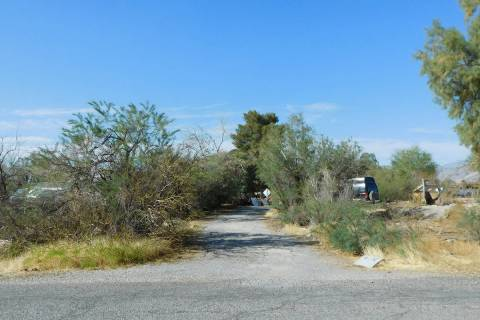 Robin Hebrock/Pahrump Valley Times This property at 4100 E. McGraw Road in Pahrump is one of hu ...