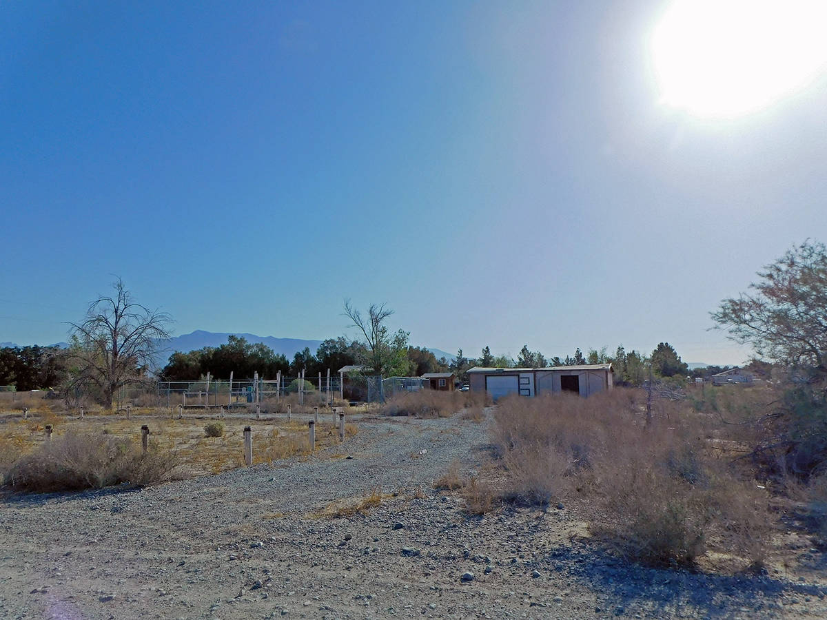 Robin Hebrock/Pahrump Valley Times Located at 7641 S. Arabian Way in Pahrump, the parcel shown ...