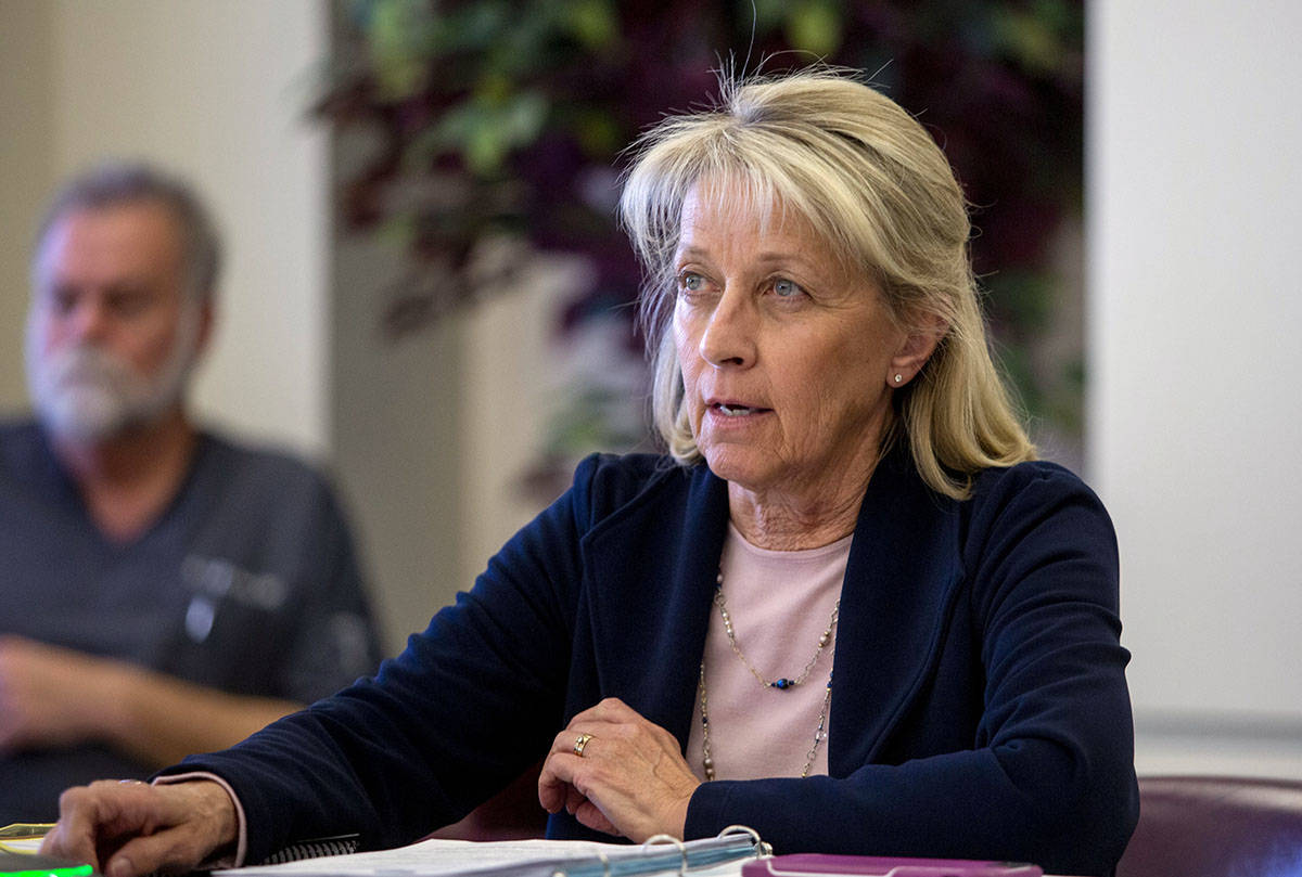 Elizabeth Page Brumley/Las Vegas Review-Journal Nevada Secretary of State Barbara Cegavske, see ...